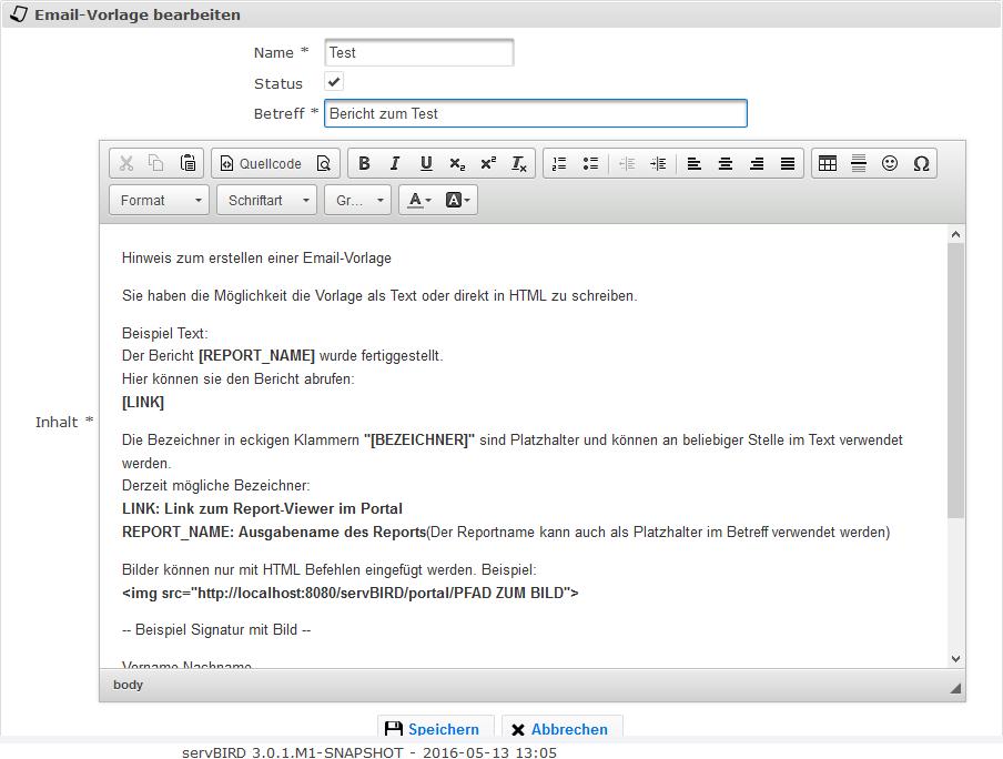E-Mail-Post-Prozessor - servBIRD 3.4
